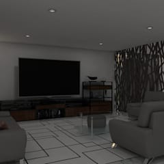modern Media room by HC Arquitecto