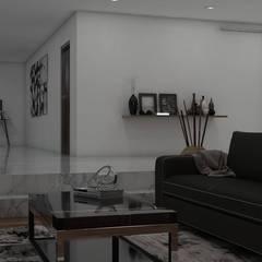 Casa GC 1920: Salas de estilo moderno por HC Arquitecto