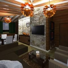Casa de Campo: Salas de estilo moderno por HC Arquitecto