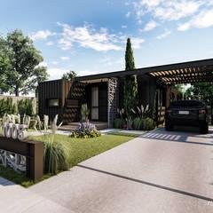 Residencial Modular - Contêiner: Casas industriais por Rodrigo Westerich - Design de Interiores