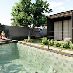 Garden Pool by Rodrigo Westerich - Design de Interiores,
