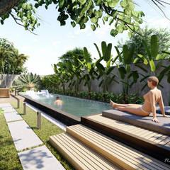 庭院泳池 by Rodrigo Westerich - Design de Interiores