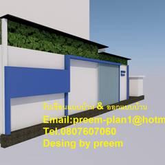 Projekty,  Dom z drewna zaprojektowane przez รับเขียนแบบบ้าน&ออกแบบบ้าน