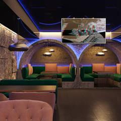 Оригинальный дизайн ресторана в подвальном помещении: Коммерческие помещения в . Автор – Art-i-Chok