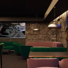Гранитные стены в интерьере - ресторан в стиле лофт и фьюжн: Коммерческие помещения в . Автор – Art-i-Chok