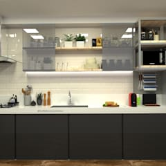 Kitchen units by Multiplanos Arquitetura