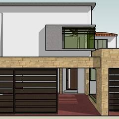 Fachada Proyecto: Casas de estilo ecléctico por TECTUM Diseño & Construccion