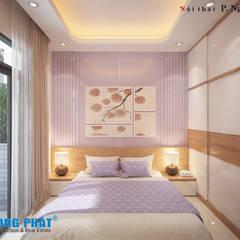 اتاق خواب توسطCông ty Thiết Kế Xây Dựng Song Phát