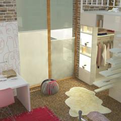 Backsteinhaus:  Kinderzimmer Mädchen von Raum und Mensch