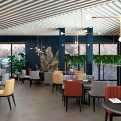 2 этаж. Обеденный зал_Проект дизайн ресторана, Москва, 173м2, Дизайнер Светлана Капустина: Ресторации в . Автор – SK Interiors studio