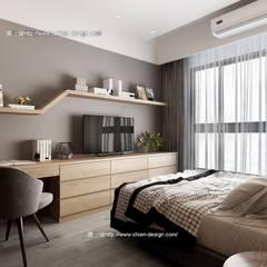 桃園黃宅:  臥室 by 鼎士達室內裝修企劃