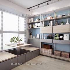桃園黃宅:  書房/辦公室 by 鼎士達室內裝修企劃