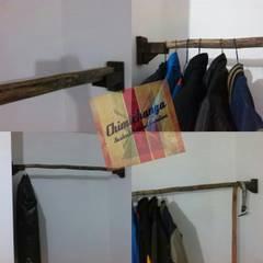Detalles: Vestidores y closets de estilo  por Chimichanga Sustentabilidad Creativa,
