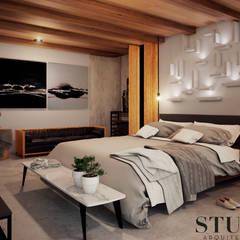 Recamara: Recámaras de estilo ecléctico por Stuen Arquitectos