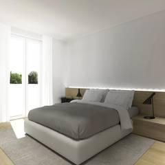 minimalistic Bedroom by interiorbe SRL