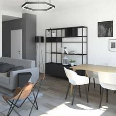 Un soggiorno in stile scandinavo: Sala da pranzo in stile  di interiorbe SRL