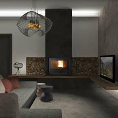 Sogno una casa industriale zen!: Soggiorno in stile  di interiorbe SRL