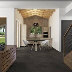 Sogno una casa industriale zen!: Sala da pranzo in stile  di interiorbe SRL