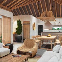 hotel miraflores san andres: Hoteles de estilo  por Adrede Diseño, Tropical