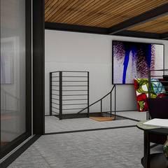 Loft Condesa: Estudios y oficinas de estilo  por Integra Arquitectos