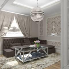 Классика в Химках Classic interior in Moscow area Klasik iç Moskova ilçe'de: Гостиная в . Автор – Eli's Home