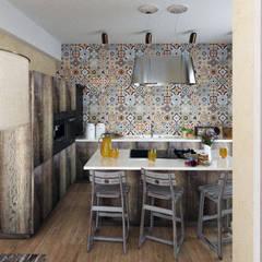 Яркая вилла на о. Кипр: Кухни в . Автор – KOSO DESIGN