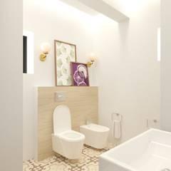Яркая вилла на о. Кипр: Ванные комнаты в . Автор – KOSO DESIGN