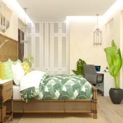 Яркая вилла на о. Кипр: Спальни в . Автор – KOSO DESIGN