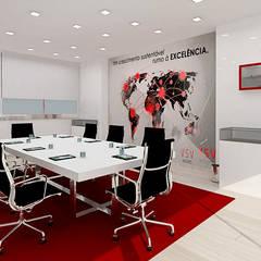 Sala de Reuniões.Leiria.Minna Interiores: Escritórios  por Minna Interiores