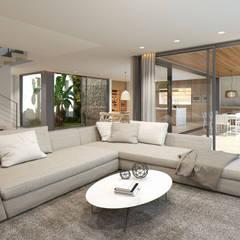 Twelve Project. Single family house located at Calviá, Mallorca: Salones de estilo  de JAIME SALVÁ, Arquitectura & Interiorismo