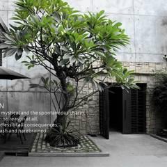 景觀設計 庭院造景:  別墅 by 洄瀾柴房 景觀工作坊 貨櫃屋改造