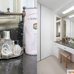 미니멀 인테리어의 품격 58평 송도아파트 : 이즈홈의  드레스 룸,미니멀