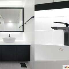 미니멀 인테리어의 품격 58평 송도아파트 : 이즈홈의  욕실