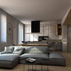 Restyling modern apartment: Sala da pranzo in stile  di FRANCESCO CARDANO Interior designer