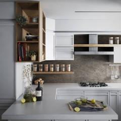 Antonella Apartment: Cucina in stile in stile Classico di FRANCESCO CARDANO Interior designer