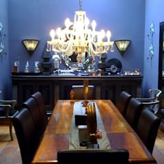 Bachelor's Art Deco Inspired Home:  Dining room by CKW Lifestyle Associates PTY Ltd