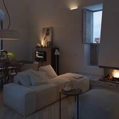 Anto Apartment: Soggiorno in stile  di FRANCESCO CARDANO Interior designer