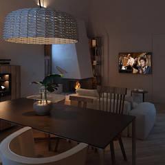Anto Apartment: Sala da pranzo in stile  di FRANCESCO CARDANO Interior designer
