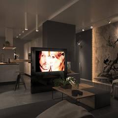 Anita Apartment: Soggiorno in stile  di FRANCESCO CARDANO Interior designer
