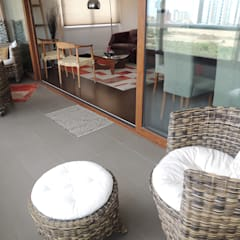 Asesoría de Interiorismos para Departamento en Reñaca, Viña del Mar por Kaa Interior: Terrazas  de estilo  por Kaa Interior | Arquitectura de Interior | Santiago