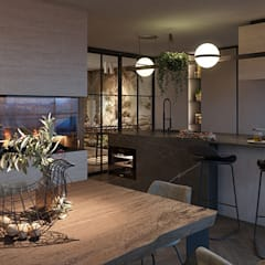 Anna Claudia Apartment : Sala da pranzo in stile  di FRANCESCO CARDANO Interior designer