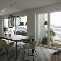 industrial Dining room by FRANCESCO CARDANO Interior designer