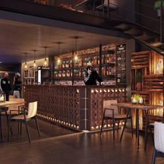Planta baja (barra): Bares y discotecas de estilo  por TACTIL Arquitectura