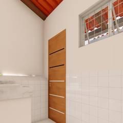 Lavabo: Banheiros rústicos por TRAIT ARQUITETURA E DESIGN