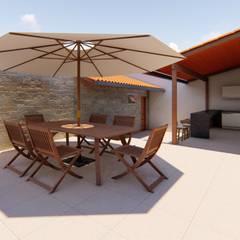 Terrace by Fark Arquitetura e Design, Rustic