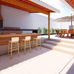 Terrazas  de estilo  por Fark Arquitetura e Design,