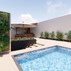 Garden Pool by TRAIT ARQUITETURA E DESIGN