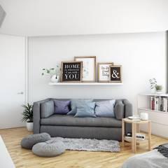 -Recámara M-: Recámaras de estilo escandinavo por TACTIL Arquitectura