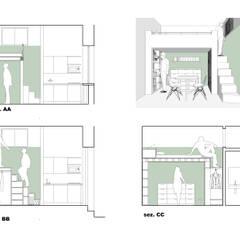 sezioni di progetto: Casa unifamiliare in stile  di Arch. Marzia Filatrella