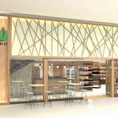 Negozi & Locali commerciali in stile  di Tatiane Corcini Arquitetura e Interiores